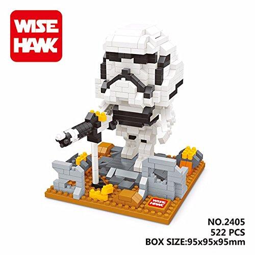 WH 2405 522 Pcs. Action Figures DIY Assemble Master Model Building Blocks Toy Present Gift