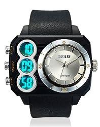Skmei Sports Stop Watch Analog - Digital Silver Dial Mens Watch - AD1090