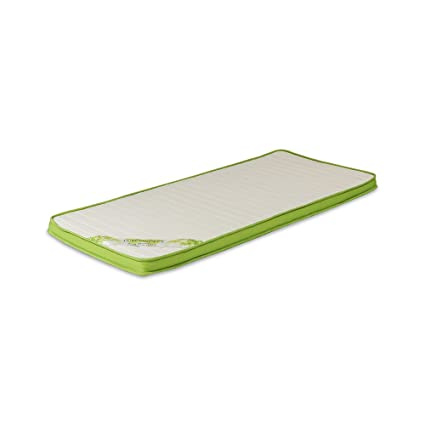 Surmatelas à mémoire de forme de 6 cm Modèle SUN MEMORY / Mousse viscoélastique, 160 x 200 x 6 cm - Toutes dimensions, Beige et vert
