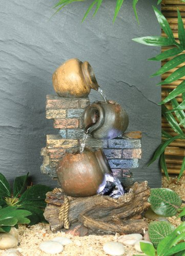 Premier 3-Jugs Lit Water Feature