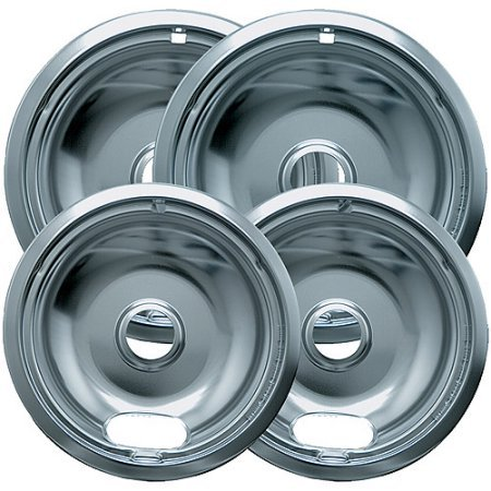 Range Kleen 4-Piece Drip Bowl, Style A fits Plug-In Electric Ranges Amana/Crosley/Frigidaire/Kenmore/Maytag/Whirlpool, Economy Plated (Stove Range Bowls compare prices)