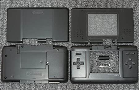Black Original Nintendo DS Complete Full Housing Shell Case Replacement Repair Fix [video games]