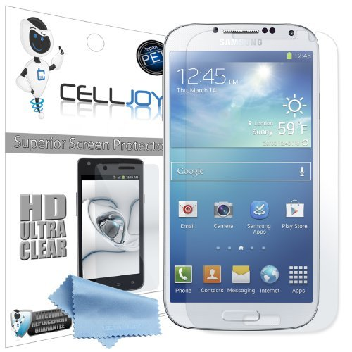 Celljoy Samsung Galaxy S Iv S4 (Not S4 Active) Premium High Definition (Hd) Ultra Clear (Invisible) Screen Protectors With Lifetime Replacement Warranty [5-Pack] - Retail Packaging