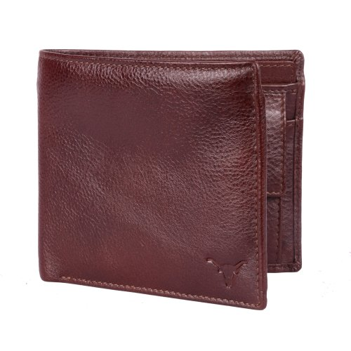Hidekraft Mens Brown Leather Wallet
