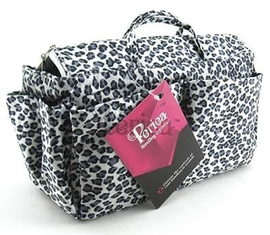 Periea Organiseur de sac à main (GRAND modèle) 13 Compartiments + mousqueton GRATUIT - Zébré - Nikki