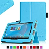"""Fintie Chromo 7"""" Tablet Folio Case Cover - Premium Leather With Stylus Holder for Chromo Inc 7 Inch Android Tablet (Front Camera Version Only) - Blue"""