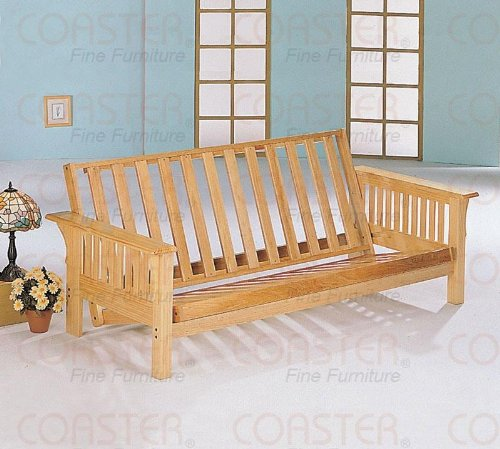 All Wood Futon In Mission Style Oak Finish Sofa Bed Frame