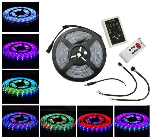 Hkbayi 16.4 Feet 150 Leds 30Led/M 5050 Smd Optical Magic Rgb Flexible Led Strip With 133 Changes Rf Controller Ip67 Clear Sleeve Waterproof