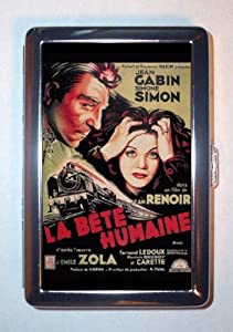 THE HUMAN BEAST 1938 EMILE ZOLA, JEAN RENOIR Cigarette Case, ID Wallet USA MADE