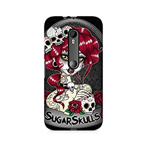 Mobicture Skull Art Premium Printed Case For Moto X Style