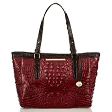 Medium Arno Tote<br>Carmine Red Tri-Color