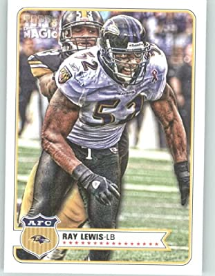 2012 Topps Magic Football Card # 83 Ray Lewis - Baltimore Ravens - NFL Trading Cards