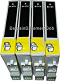 4 x Compatible Black Cartridges for Epson Stylus S22/SX125/420W/425W