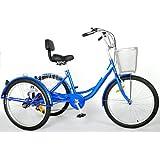 "24"" Adult Tricycle 6 Speed Trike"
