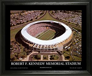 Washington Redskins - RFK Memorial Stadium Aerial - Lg - Framed Poster Print by Laminated Visuals