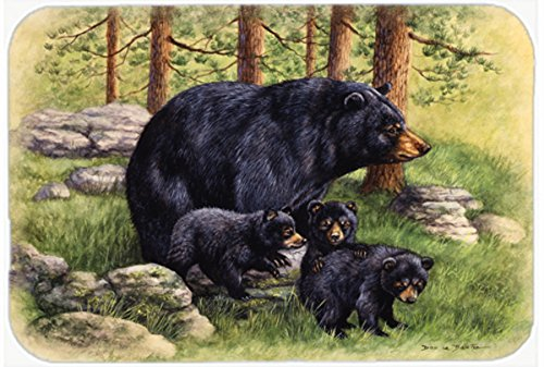 Black Bears by Daphne Baxter Kitchen or Bath Mat 24x36 BDBA0114JCMT