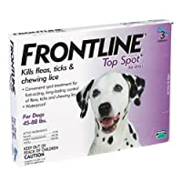 Frontline Top Spot Flea and Tick Dog Treatment Tube, 3-Month, 45 to 88-Pound, Purple