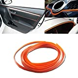 3D DIY Car motor Interior Exterior Decoration Moulding Trim Strip line by NERLMIAY (5M Orange)