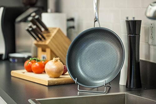 """Frieling BC132 Black Cube Hybrid Nonstick Cookware Fry Pan, 12.5"""", Stainless"""