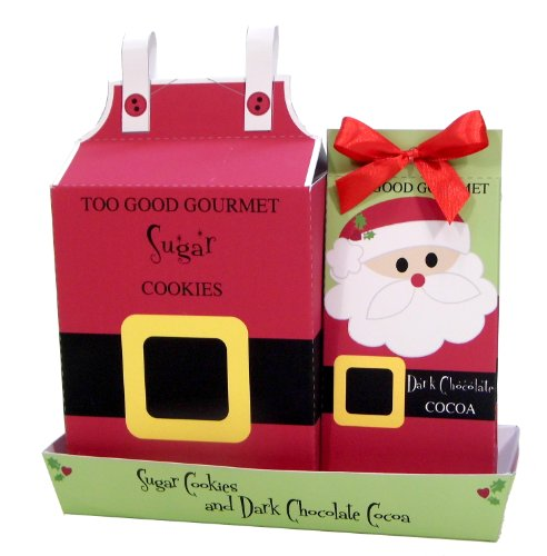 Too Good Gourmet Santa Cookies and Cocoa Christmas Gift Set