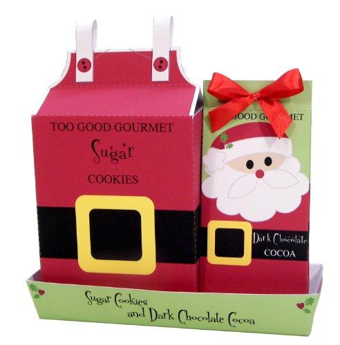 Too Good Gourmet Santa Cookies and Cocoa Christmas Gift Set