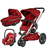 Quinny Buzz Xtra Red Rumour with Carrycot and Pebble Car Seat