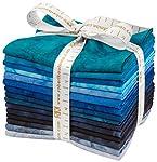 Lunn Studios Artisan Batiks Prisma Dyes Open Waters 15 Fat Quarters Robert Kaufman Fabrics FQ-829-15