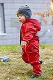 Baby Softshell Overall von be baby! (Wassersäule: 10.000 mm), rot, Gr. 68-74