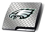 Playstation 3 PHILADELPHIA EAGLES PS3 Slim Decal Sticker Skin Diamond Plate Look
