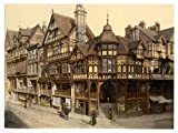 13cm x 18cm (1890 - 1900) Vintage Photochrom Postcard Reprint of The Cross And Rows, Chester, Cheshire, England