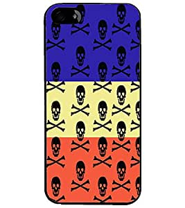 PrintDhaba Skull D-3228 Back Case Cover for APPLE IPHONE 4S (Multi-Coloured)