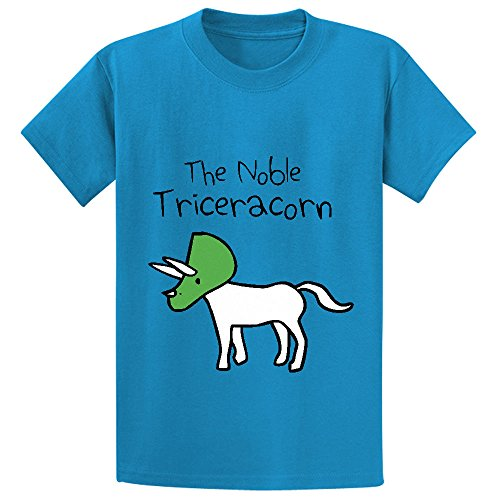 Unicorn The Noble Triceracorn Teen Personalized Crew Neck Tees Blue (Golden Weed Grinder compare prices)