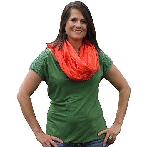 Nizo Wear Infinity Cotton Breastfeeding Scarf/Cover-Up CORAL