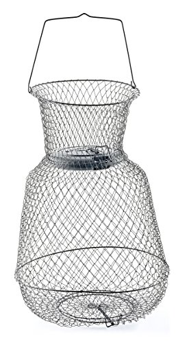 South bend floating wire fish basket sporting goods for Live fish basket