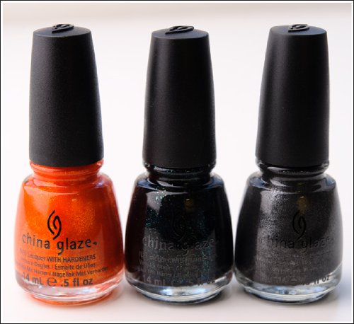 China Glaze Hunger games-- Riveting, Smoke and Ashes, Stone Cold