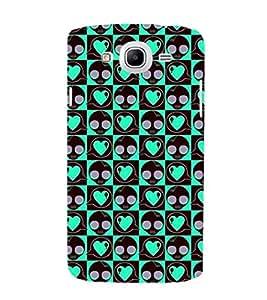 EPICCASE Skull & Hearts Mobile Back Case Cover For Samsung Galaxy Mega 5.8 I 9150 (Designer Case)