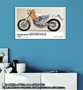 ポスター フィリップスタルク Aprilia Moto 6.5 1995 額装品 ウッドベーシックフレーム(ホワイト)