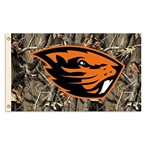 Buy NCAA Oregon State Beavers 3-by-5 Foot Flag with Grommets - Realtree Camo Background by BSI