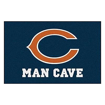 FANMATS 14281 NFL Chicago Bears Nylon Universal Man Cave Starter Rug