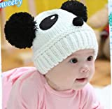 Towallmark 1PC Lovely Baby Kids Girls Boys Stretchy Warm Winter Panda Cap Hat Beanie (White)