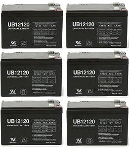 12V 12Ah UPS Battery for Lightguard 4245139800 - 6 Pack