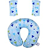 Baby Bucket Neck Support Travel Pillow And Seat Belt Covers Handy Item For Prams, Highchairs, Carseats, Carry...