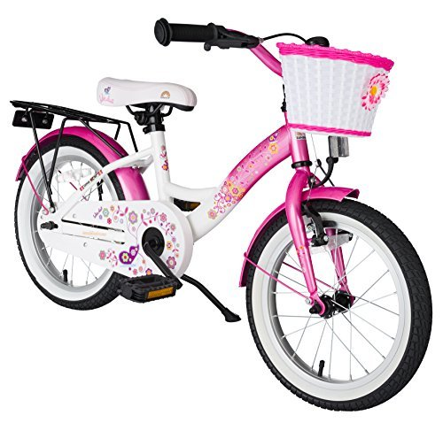bikestar-406cm-16-Inch-Kids-Children-Girls-Bike-Bicycle-Classic-Pink-White