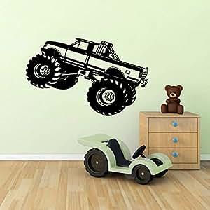 Wall Decals Monster Truck Car SUV Kids Boys Room Nursery ...