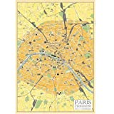 PARIS Map ポスター