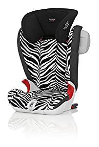Britax KIDFIX SL SICT Group 2/3  4 - 12 Years High-Backed Booster Car Seat (Smart Zebra)