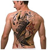 Full Back Temporary Tattoo Koi