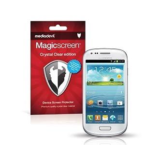MediaDevil Samsung Galaxy S3 Mini / SIII Mini Screen Protectors: Magicscreen Crystal Clear (Invisible) edition - (2 x Protectors)