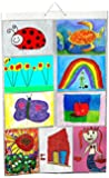 Picture Pockets Kids Art (Size A4) Hanging Photo Gallery - 18 drawings / photos in 9 pockets (reversible) Flat Pack