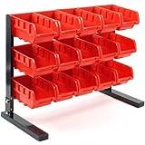 Stalwart Bench Top Parts Rack, 15 Piece